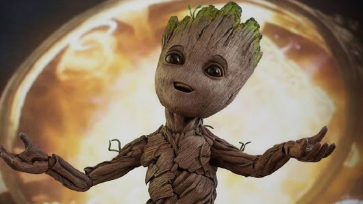 Hot Toys' BABY GROOT Life Size Figure is Cosmically Adorable | Nerdist