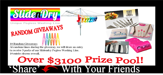 What prize do you want from the Slide-n-Dry Giveaway Prize Pool worth over $3100