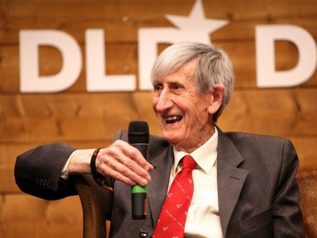 MUNICH, GERMANY - JANUARY 22: Freeman Dyson speaks during the Digital Life Design conference (DLD) at HVB Forum on January 22, 2012 in Munich, Germany.