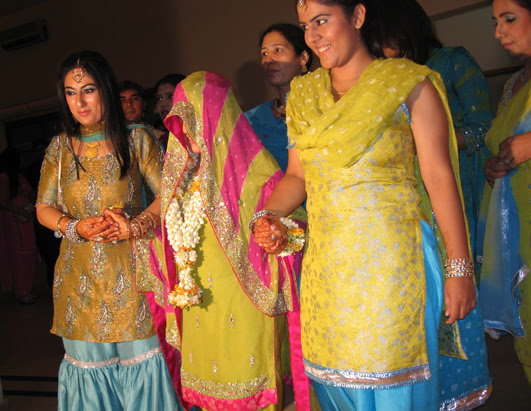 In Pakistan the wedding ceremonies take place over three days