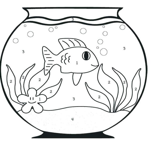Fish Bowl Coloring Page at GetDrawings   Free download