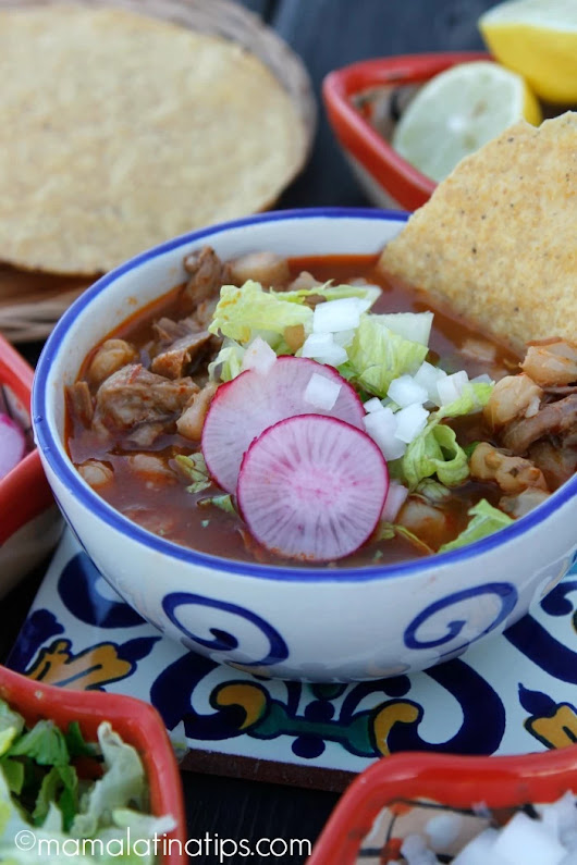 Red Pozole Recipe - Mama Latina Tips