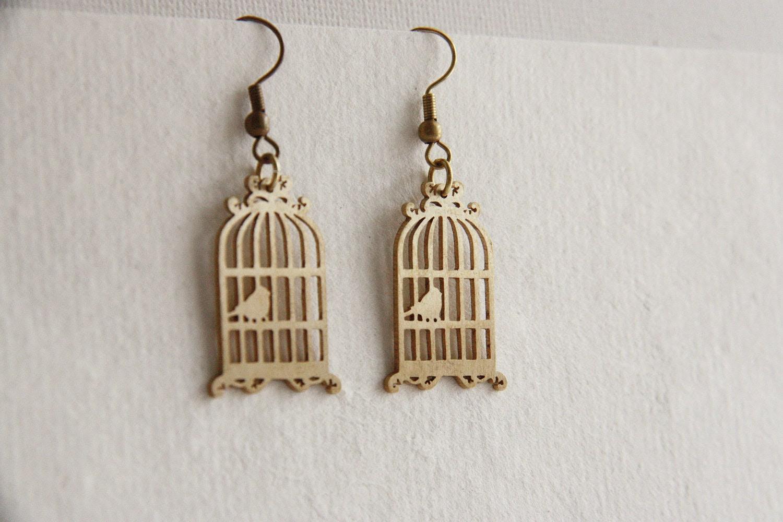 Antique Style Birdcage - Hand Craft - Earrings - SeptemberRoom