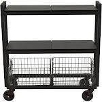 ürb SPACE - Trolley - 3 shelves - 3 tiers - powder-coated steel - black