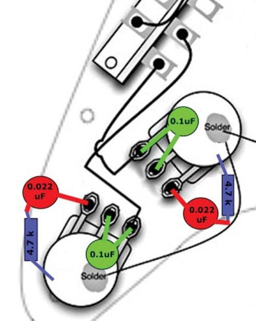 Guitar Wiring Diagram No Pots
