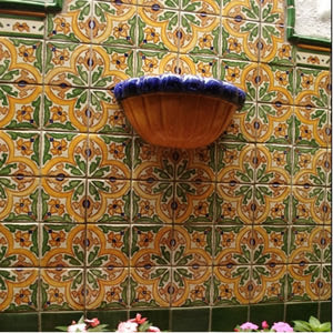 Barcelona San Jose Quarter Design Hand Painted Tile for a Back Splash