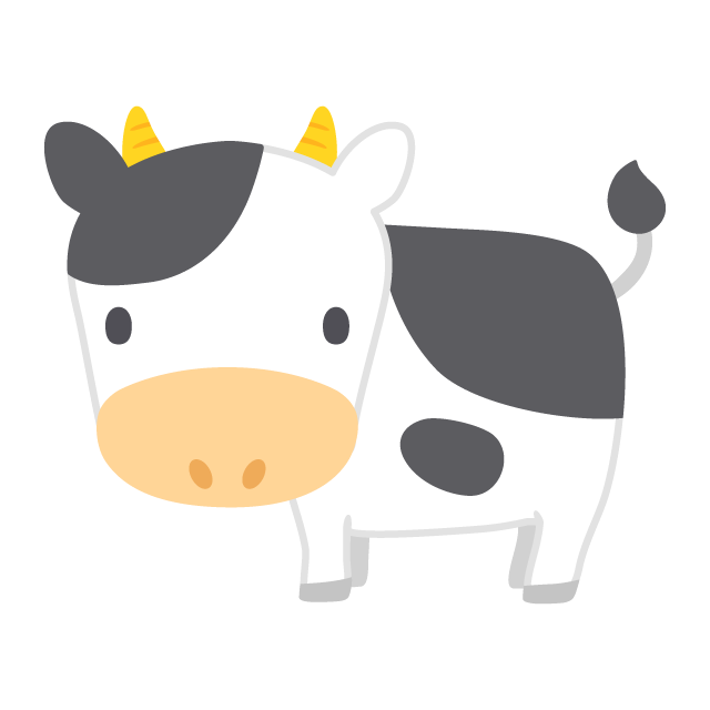 乳牛の無料ベクターイラスト素材 Picaboo ピカブー 無料