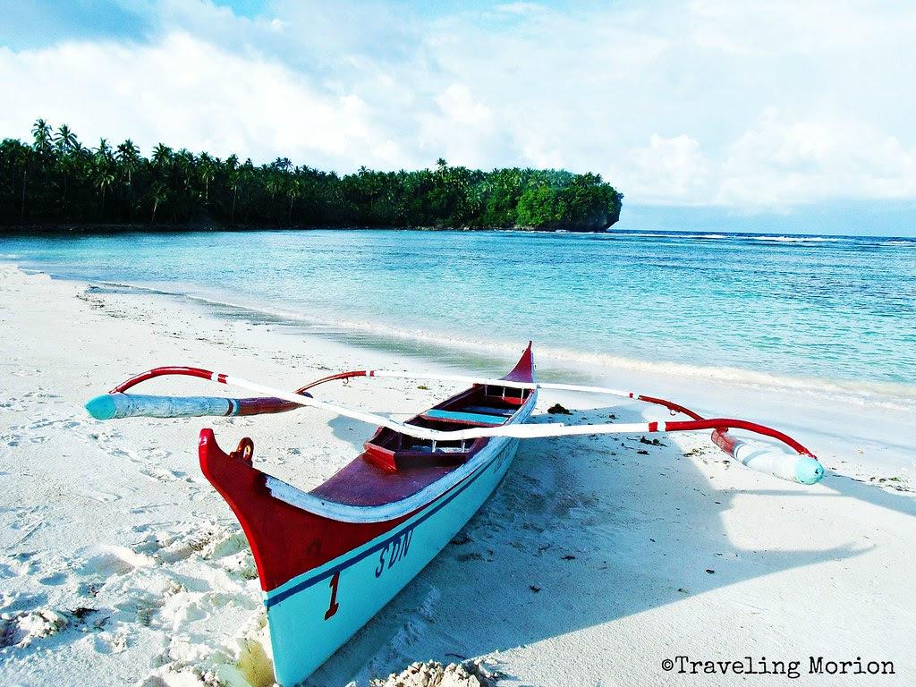 Caridad Public Beach in Pilar-Siargao island