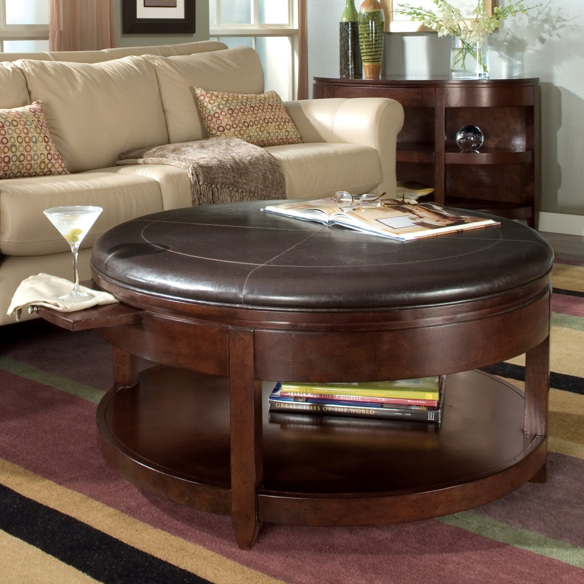 Awesome Round Coffee Tables with Storage - HomesFeed
