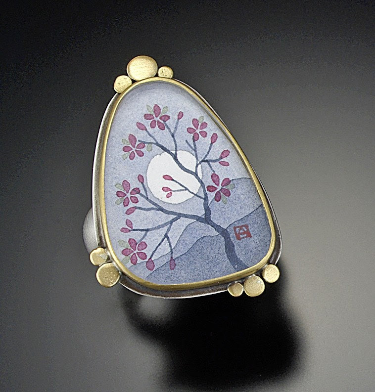 Large Plum Blossom Ring