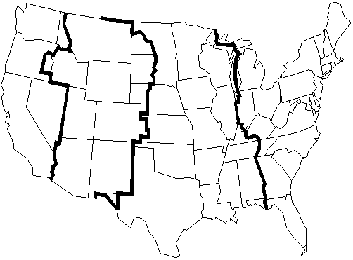 Image Result For Usa Time Zones