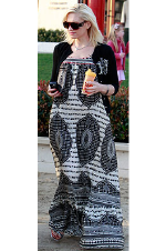 Gwen Stefani wearing Twelfth Street by Cynthia Vincent Maxi Dress