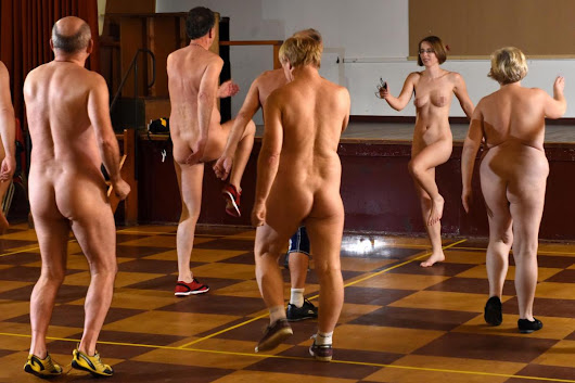 A bizarre new fitness trend is sweeping the nation - where participants exercise completely NAKED