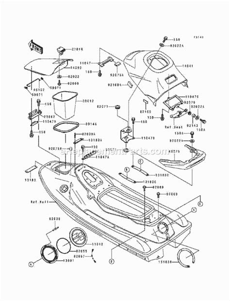 Kawasaki Jh750-D1 Xi Parts List And Diagram - (1994