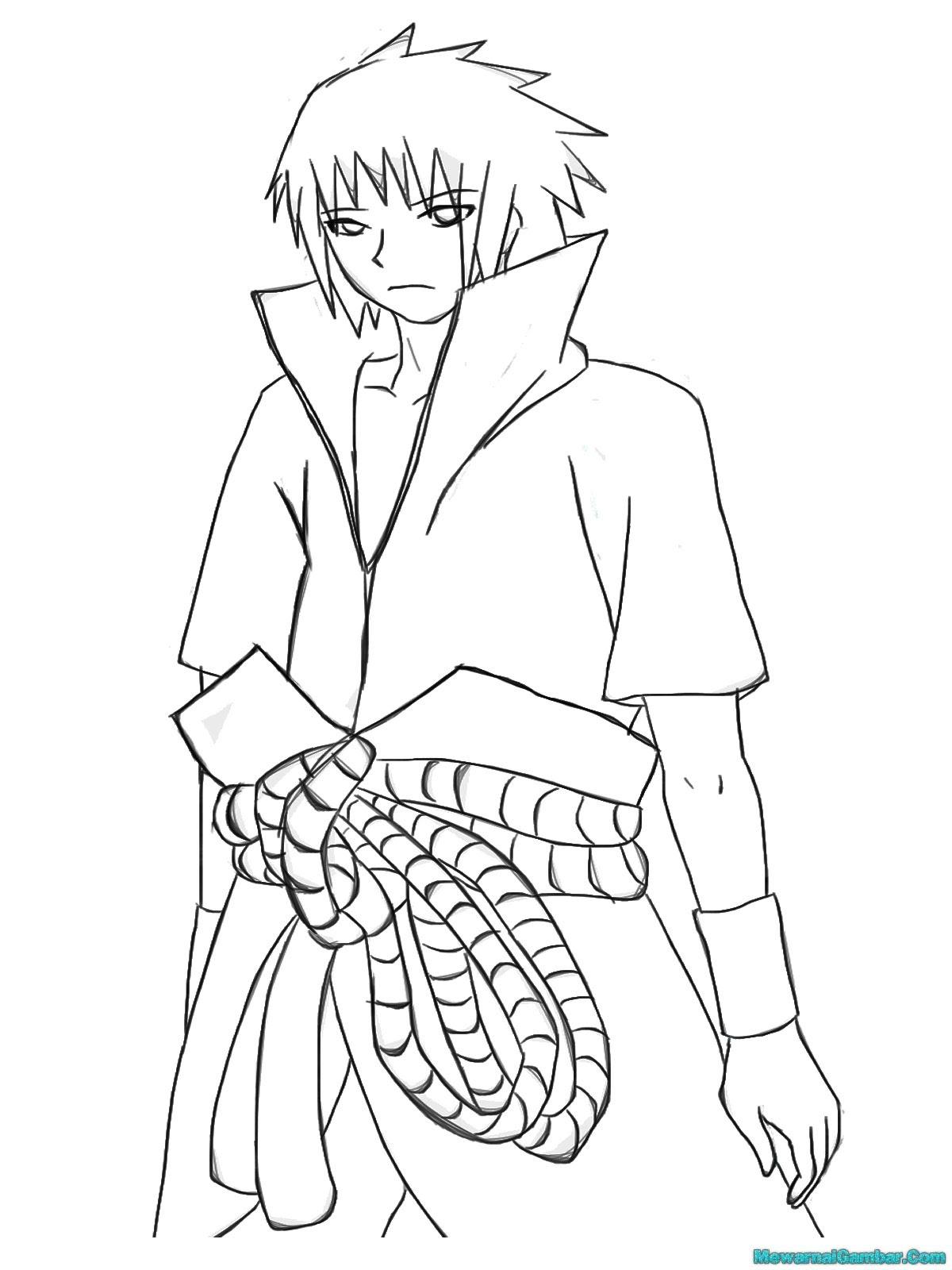 Koleksi Mewarnai Gambar Naruto Vs Sasuke