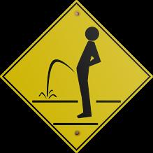 Pee Outside Sign