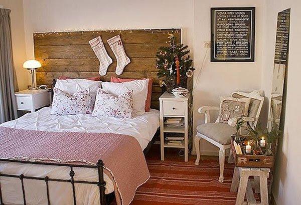 scandinavian christmas bedroom decor