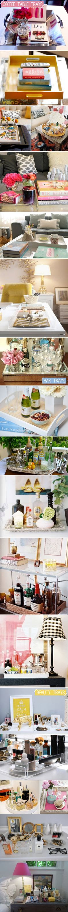Coffee table trays