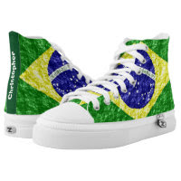 Personalized Brazilian Flag Printed Shoes