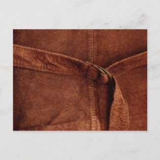 Brown Suede With Strap And Buckle postcard
