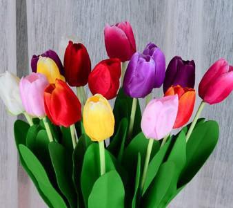2017 Artificial Flowers Wholesale Single Tulip Floral Living Room Desktop Display Table