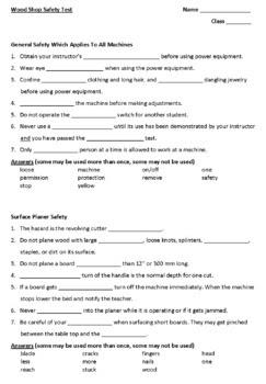 Woodshop safety lesson plans ~ FL