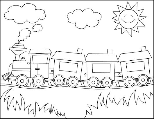 Dibujos de Trenes para Imprimir, pintar y colorear Gratis :