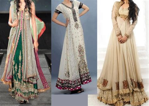 Latest Trends of Bridal Maxi Dresses 2015 in Pakistan for