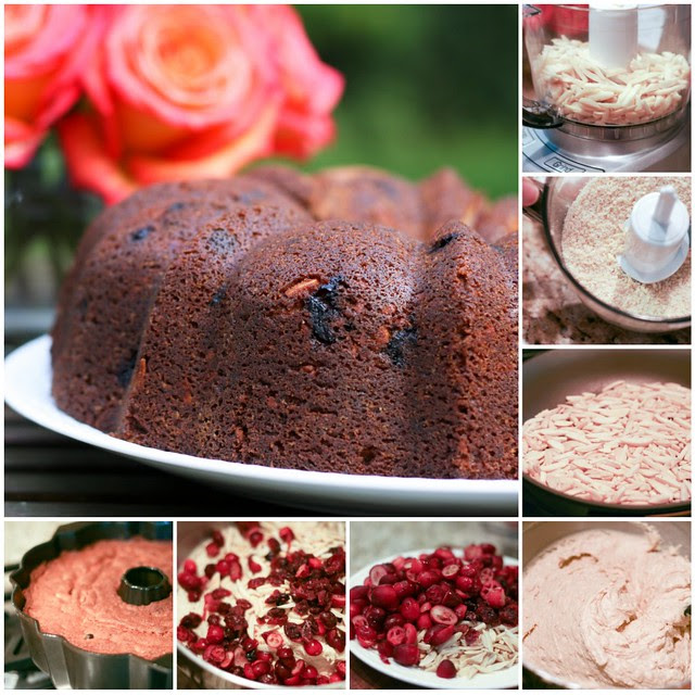 Spiced Cranberry Bundt collage