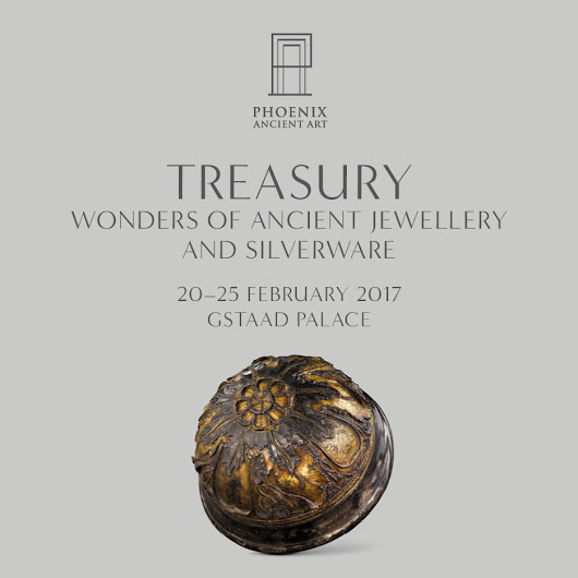 Phoenix Ancient Art - Invitation to our exhibition in Gstaad - TREASURY