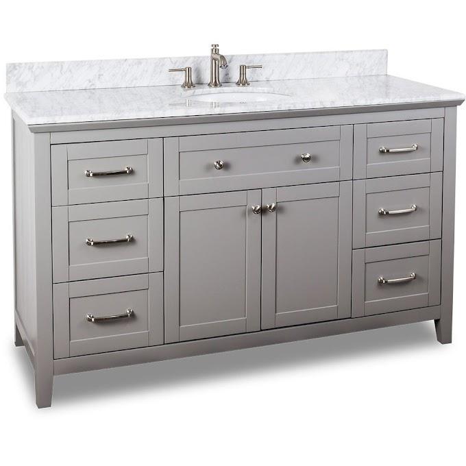 60 Inch Vanity Top Single Sink Center