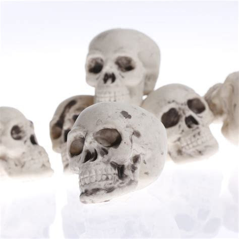 Miniature Skeleton Skulls   Halloween and Fall Miniatures