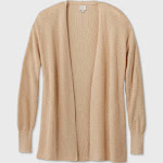Women's Essential Open-Front Cardigan - A New Day Brown