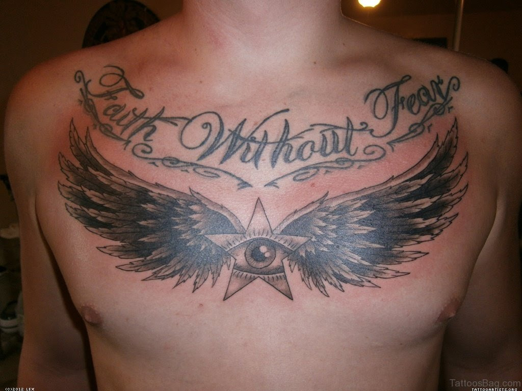 70 Stylish Wings Tattoo For Chest