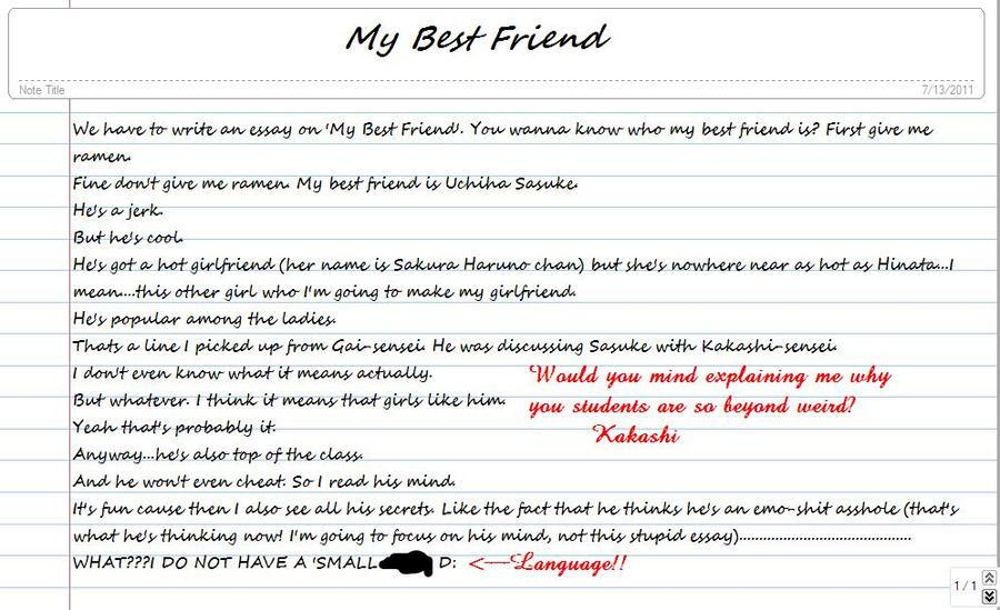 write essay on my best friend