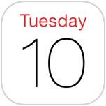 Calendar icon in iOS 7