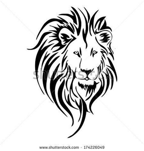 lion clipart tribal pencil   color lion clipart tribal