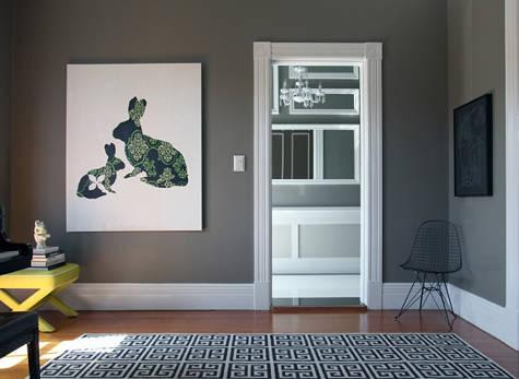 Gray Walls - Contemporary - living room - Behr Squirrel - Design ...
