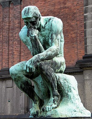 The Thinker by Auguste Rodin. Grubleren, in Ny...
