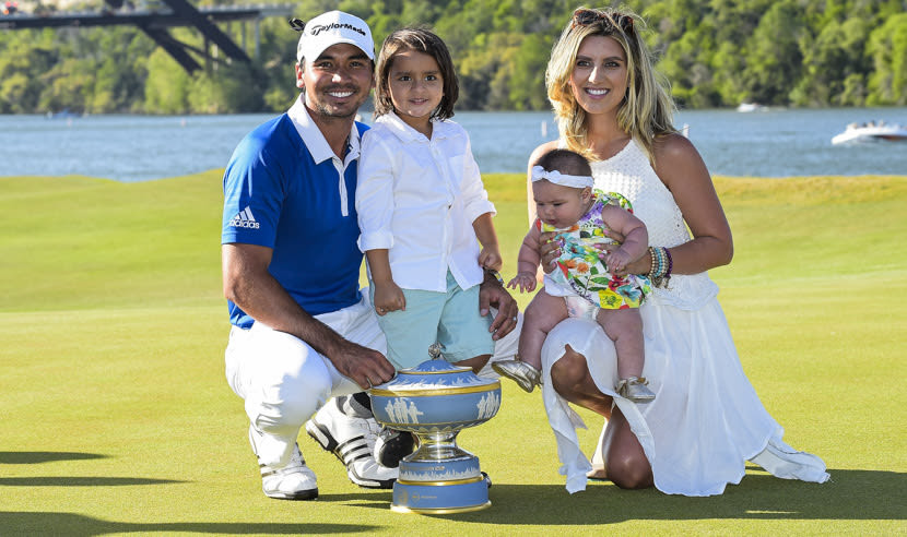 Jason and family with trophy