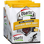 Oberto All Natural Beef Jerky, Original - 12 pack, 1.5 oz pouch