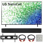 LG 75 Inch HDR 4K UHD Smart NanoCell LED TV 2021 with LG SK1 Soundbar Bundle