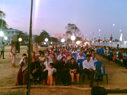 Sangamam: Audience listening to the story attentively