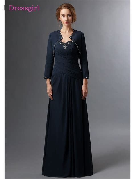 Navy Blue 2019 Mother Of The Bride Dresses A line