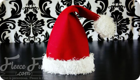 Santa Hat How To ♥ Fleece Fun