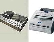 Il videoregistratore (a sinistra) e il fax