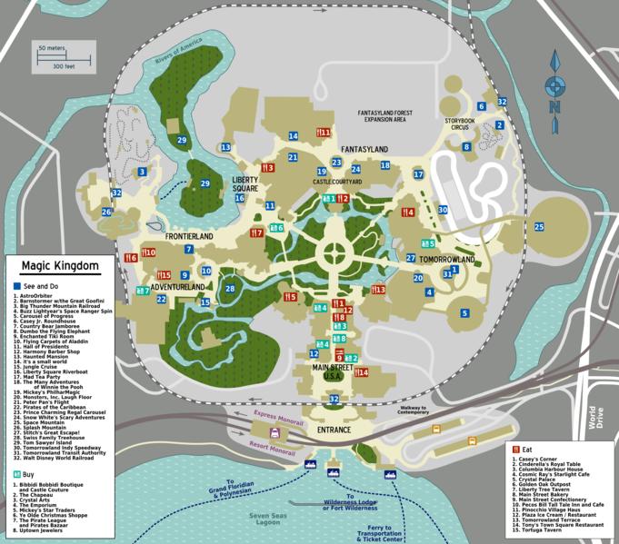 magic kingdom map 2009. disney world magic kingdom map