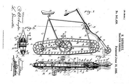 """Traction """"Vehicle"""" (Bicycle Patent, 1895)"""