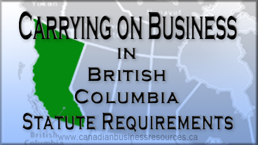 Carry on Business in British Columbia