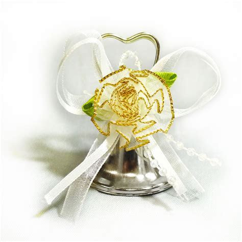 ifavor123.com: 24pcs Silver heart Shaped wedding bells